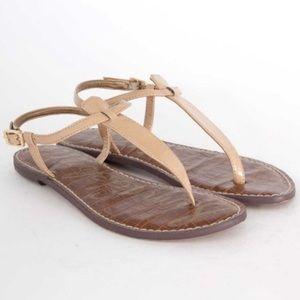 Sam Edelman Gigi Nude/Tan Patent Sandal Sz 8.5